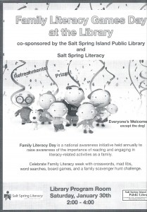 Family Literacy Games Day at the Library @ Salt Spring Library | British Columbia | Canada