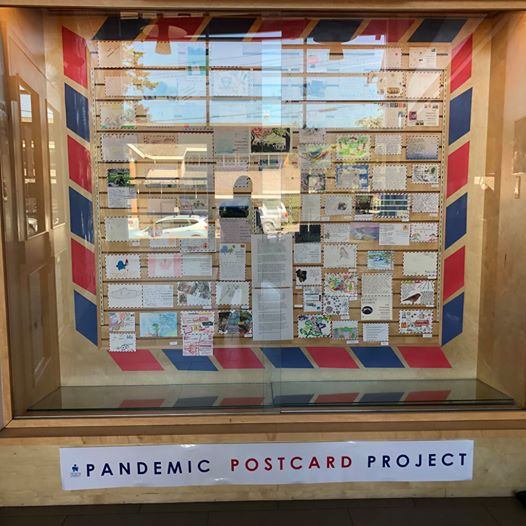 Pandemic Postcard Display at the Salt Spring Library