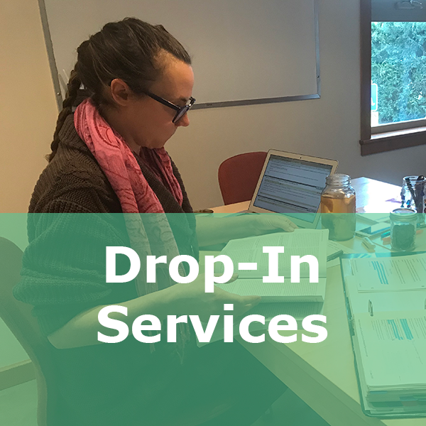 drop in services button